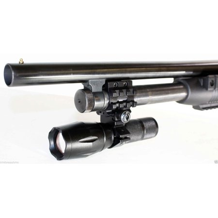 Tactical 1000 Lumen Flashlight + Mount Fits 12 Gauge Mossberg maverick