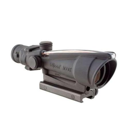 Trijicon Acog Rifle Scope  3 5X35  Red Chevron Reticle  223  Includes Flattop Mount  Matte