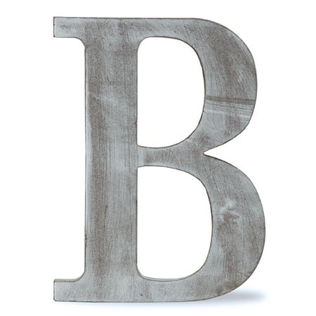 Wood Block Letter - B - Charcoal Grey 14in