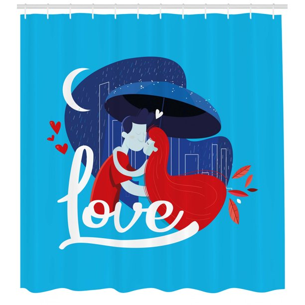 Kissing Shower Curtain Man And Woman