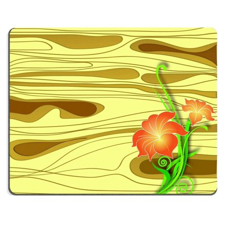 POPCreation Flowers on a wooden board vector Mouse pads Gaming Mouse Pad 9.84x7.87 inches ()