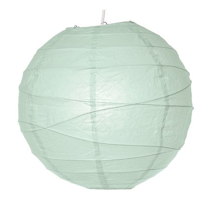 Paper Lantern (14-Inch, Free-Style Ribbed, Cool Blue) - Rice Paper Chinese/Japanese Hanging Decoration - For Home Decor, Parties, and Weddings (Lilac Wedding Decorations)