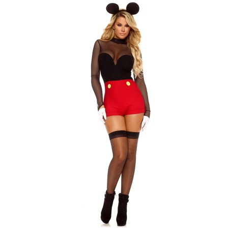 Mickey Mouse Costume Adult (Women's Mickey Mouse Romper)