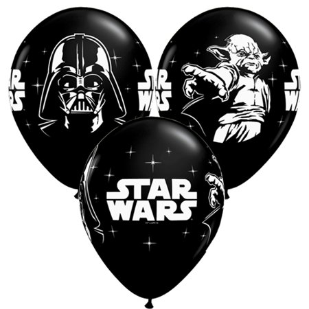 Star Wars Black Latex Balloons (6ct)