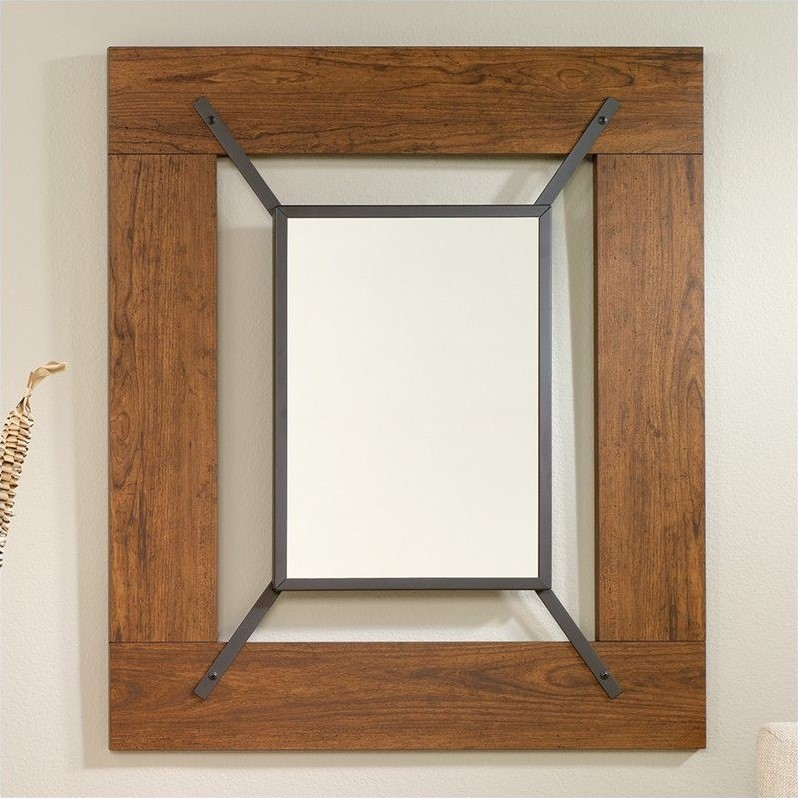 Sauder Carson Forge Wall Mirror, Washington Cherry by Sauder