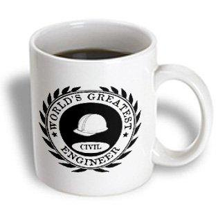 3dRose Worlds Greatest Civil Engineer award. Fun job pride work gifts - black, Ceramic Mug, 11-ounce