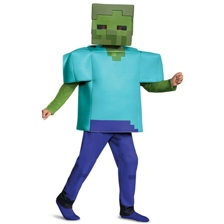 Minecraft Zombie Deluxe Child Costume