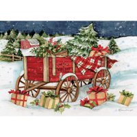 Lang Companies Snowy Delivery Petite Christmas Cards for Heart Warming Greetings 2 Cards and 13 Envelopes - 5''x3.5''