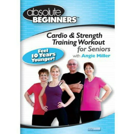ABSOLUTE BEGINNERS-CARDIO & STRENGTH TRAINING WORKOUT FOR SENIORS (DVD) (30 Minute Cardio Workout At Home No Equipment)