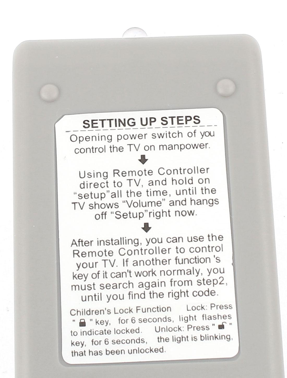 Unique Bargains Battery Powered Plastic Housing Universal TV