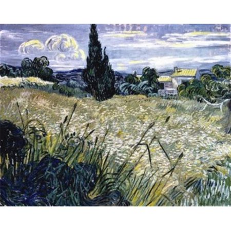 Posterazzi SAL900100346 Landscape with Green Corn Vincent Van Gogh 1853-1890 Dutch Narodni Gallery Prague Poster Print - 18 x 24 in. ()