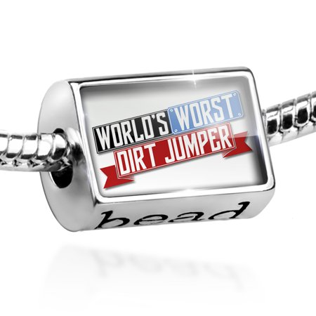 Bead Funny Worlds worst Dirt Jumper Charm Fits All European Bracelets