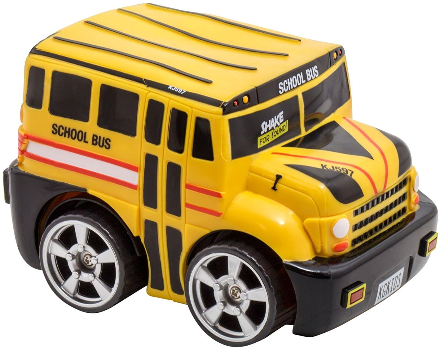 20321 Shake For Sound School Bus Vehicle, Soft, safe and squeezable. By Kid Galaxy by