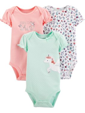 Child of Mine by Carter's Short Sleeve Bodysuits, 3pk (Baby Girls)