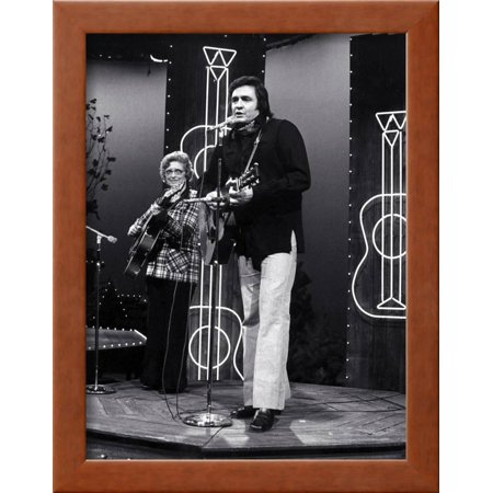 Johnny Cash Framed Print Wall Art By Globe Photos LLC - Walmart.com