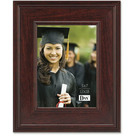 Mahogany Executive Frame (DAX Executive Document/Photo Frame, Desk/Wall Mount, Plastic, 5 x 7,)