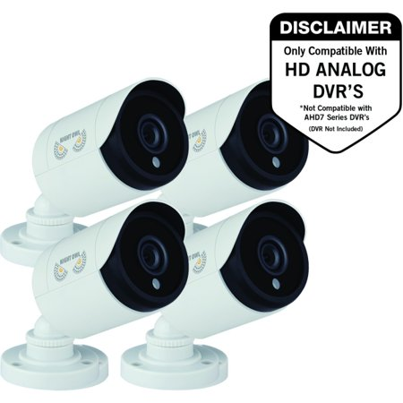 4PK 1080P HD ADD -ON BULLET CAM NIGHT VISION 60FT CABLE/CAMERA