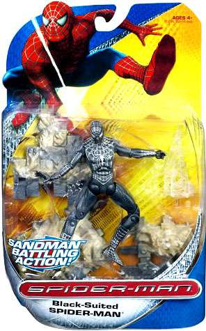 Spider-Man Trilogy Black-Suited Spider-Man Action Figure [Sandman Battling Action!] by