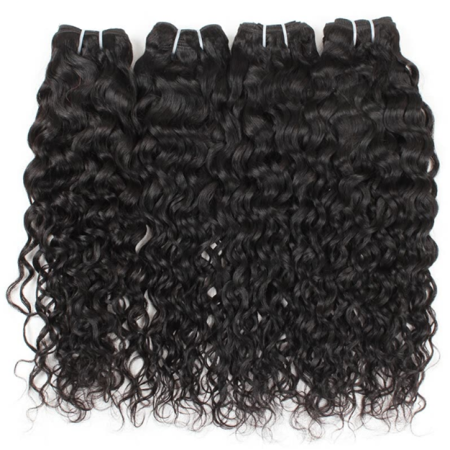 Water Wave Weave (Allove Brazilian Water Wave Virgin Hair 5 PCS 7A Brazilian Wet and Wavy Hair Weaves, 28