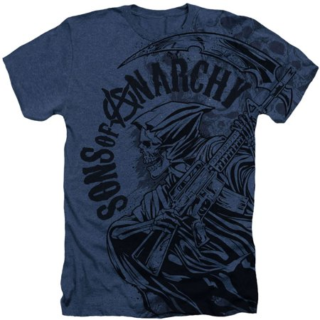 Sons Of Anarchy Men's  Reaper Skulls T-shirt (Sons Of Anarchy Old Lady T Shirt)
