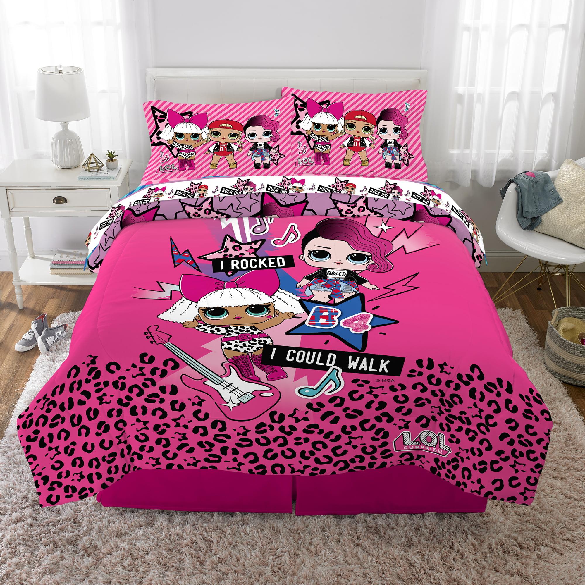 L O L Surprise Kids Bedding Bed In A Bag Set 5 Piece Full Pink Walmart Com Walmart Com