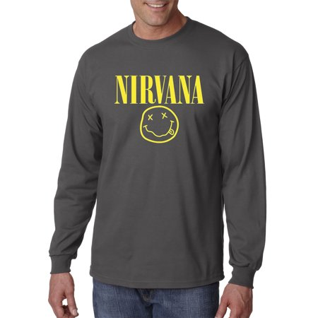 bf16ad1058d New Way - 218 - Unisex Long-Sleeve T-Shirt Nirvana Smiley Face - Walmart.com
