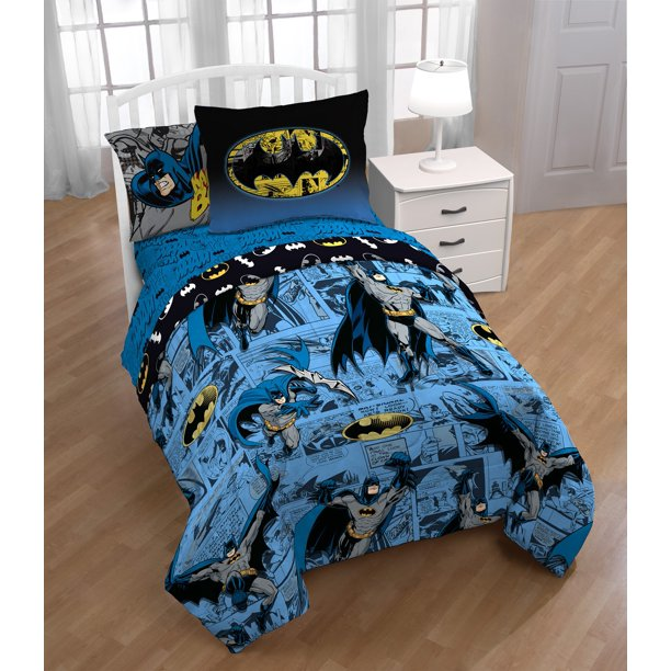DC Comics Batman Bedding Bed in a Bag with Bonus Tote Set Twin, 5