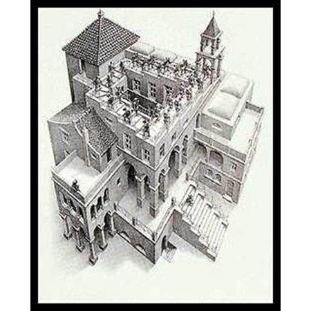 Ascending and Descending MC Escher Poster Poster Print (Mc Escher Poster)