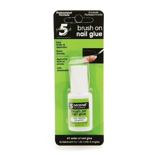 5 Second Nail Brush-On Nail Glue, 0.2 Oz
