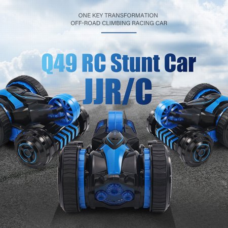 JJR/C Q49 RC Stunt Car 2.4G 2WD Double-sided Flip One Key Transformation Off-road Climbing Racing Car for Kids - image 1 de 1