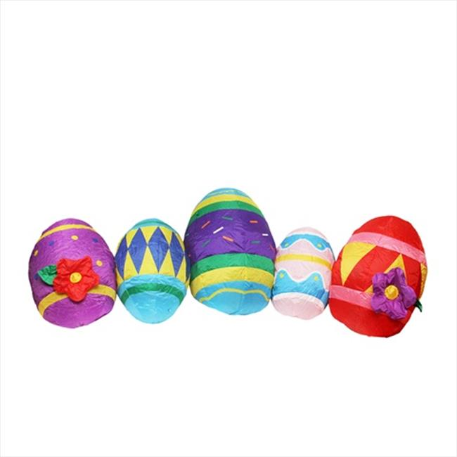 NorthLight 10 ft. Inflatable Lighted Easter Eggs Yard Art...