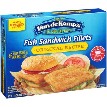 019600921424 upc van de kamp 39 s fish sandwich fillets for Fish stick sandwich