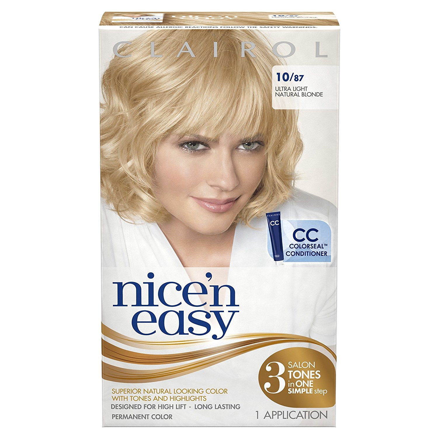Clairol Nice 39n Easy Hair Color 1087 Ultra Light Natural Blonde
