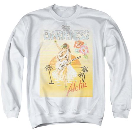 Trevco Sportswear BAND397-AS-2 The Darkness & Aloha-Adult Crewneck Sweatshirt, White - Medium - image 1 of 1