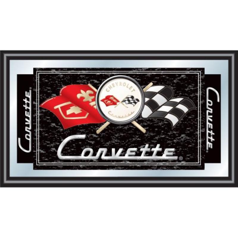 Trademark Gameroom Chevrolet Corvette Framed Logo Mirror