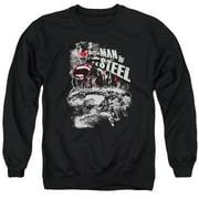 Man Of Steel Scratchy Steel Mens Crewneck Sweatshirt