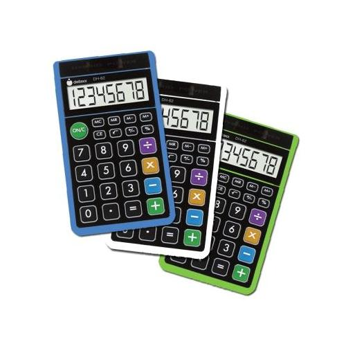 3 pcs - Hybrid Solar/Battery powered Handheld Calculator DXXDH62X3