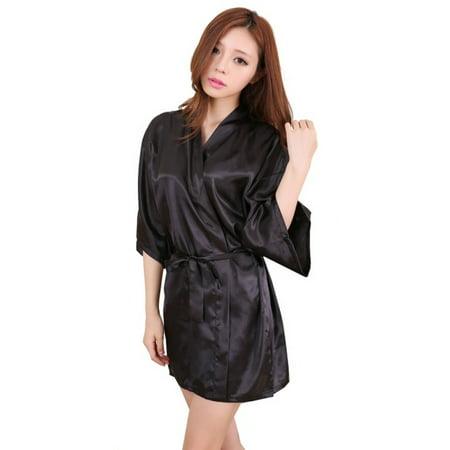 New Sexy Hot Robe (EFINNY Women's Summer Nightdress Sexy Satin Sleepwear)