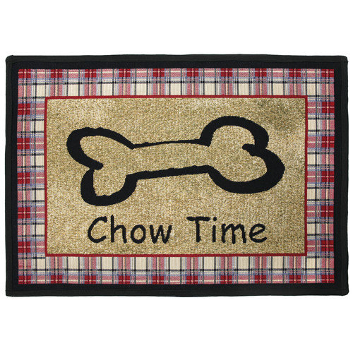 Park B Smith Ltd PB Paws & Co. Multi Chow Time Tapestry Indoor/Outdoor Area Rug