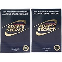 Adam's Secret 1500 100% Natural Male Libido Performance Enhancement 10 Pack (2 Pack)