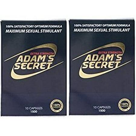 Adam's Secret 1500 100% Natural Male Libido Performance Enhancement 10 Pack (2