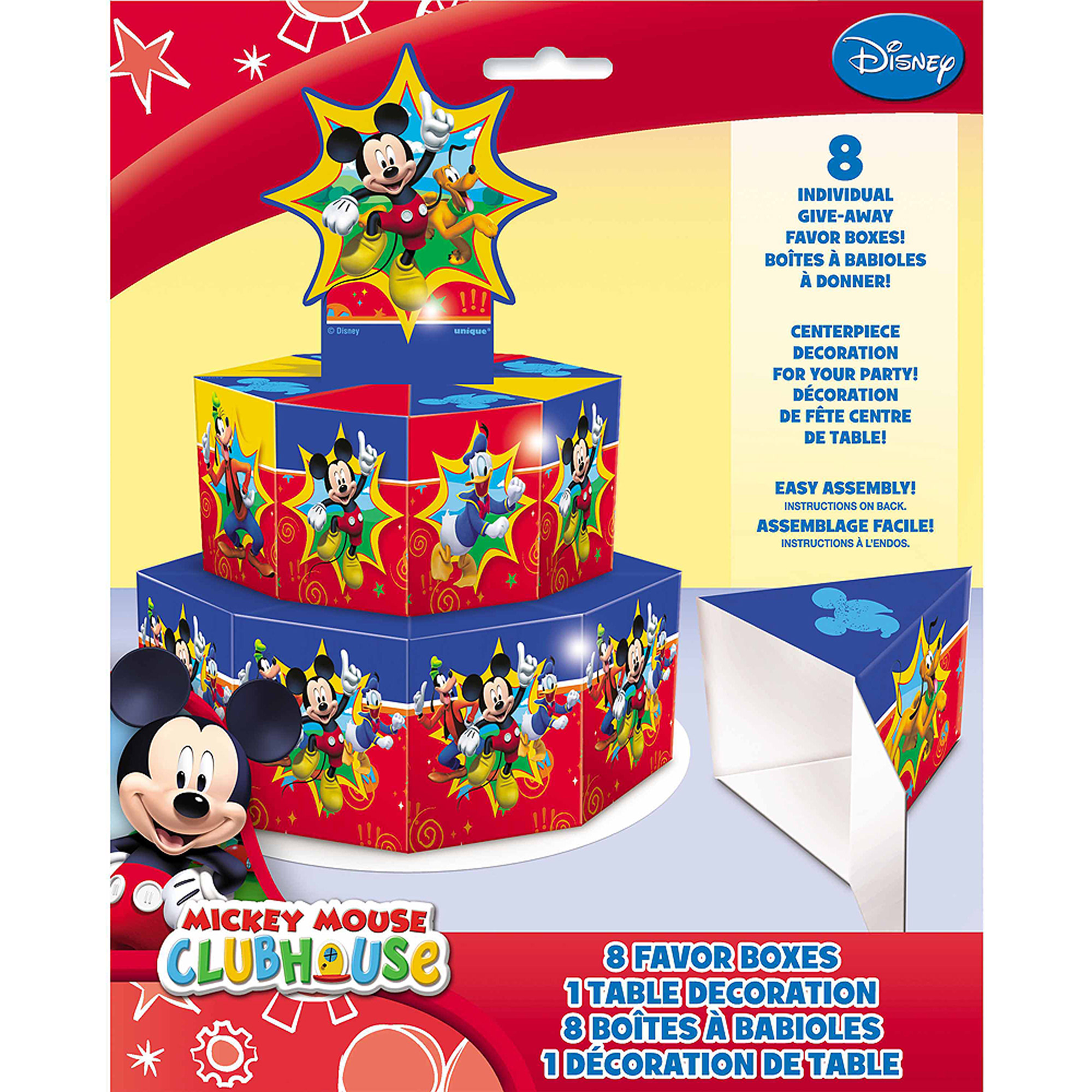 Disney Mickey Mouse Favor Box Centerpiece Decoration for 8 - Walmart.com