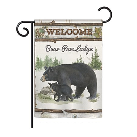 Breeze Decor - Bear Paw Lodge Nature - Everyday Wildlife Impressions Decorative Vertical Garden Flag 13