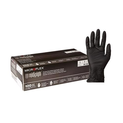 "Microflex MidKnight Nitrile Glove, Powder Free, 9.6"" Leng..."