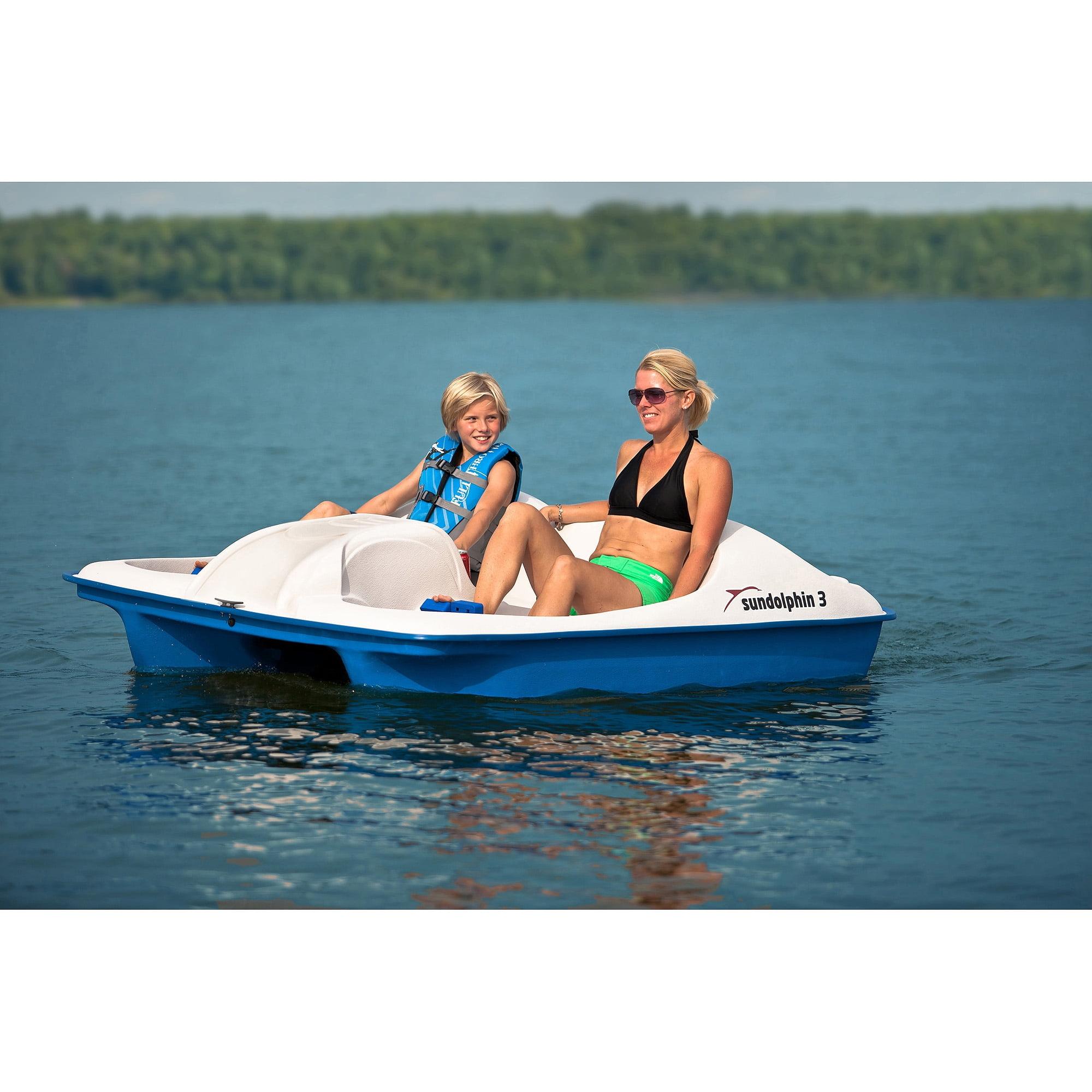 Sun Dolphin 3-Person Pedal Boat - Walmart.com - Walmart.com