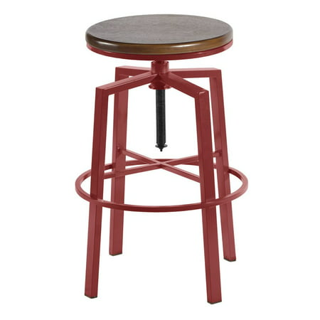 Fantastic Steve Silver Dorian Backless Adjustable Bar Stool In Red Machost Co Dining Chair Design Ideas Machostcouk