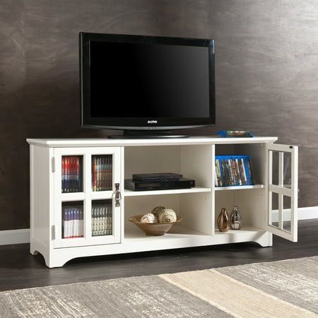 Bearden White TV/Media Stand for TVs up to 50″