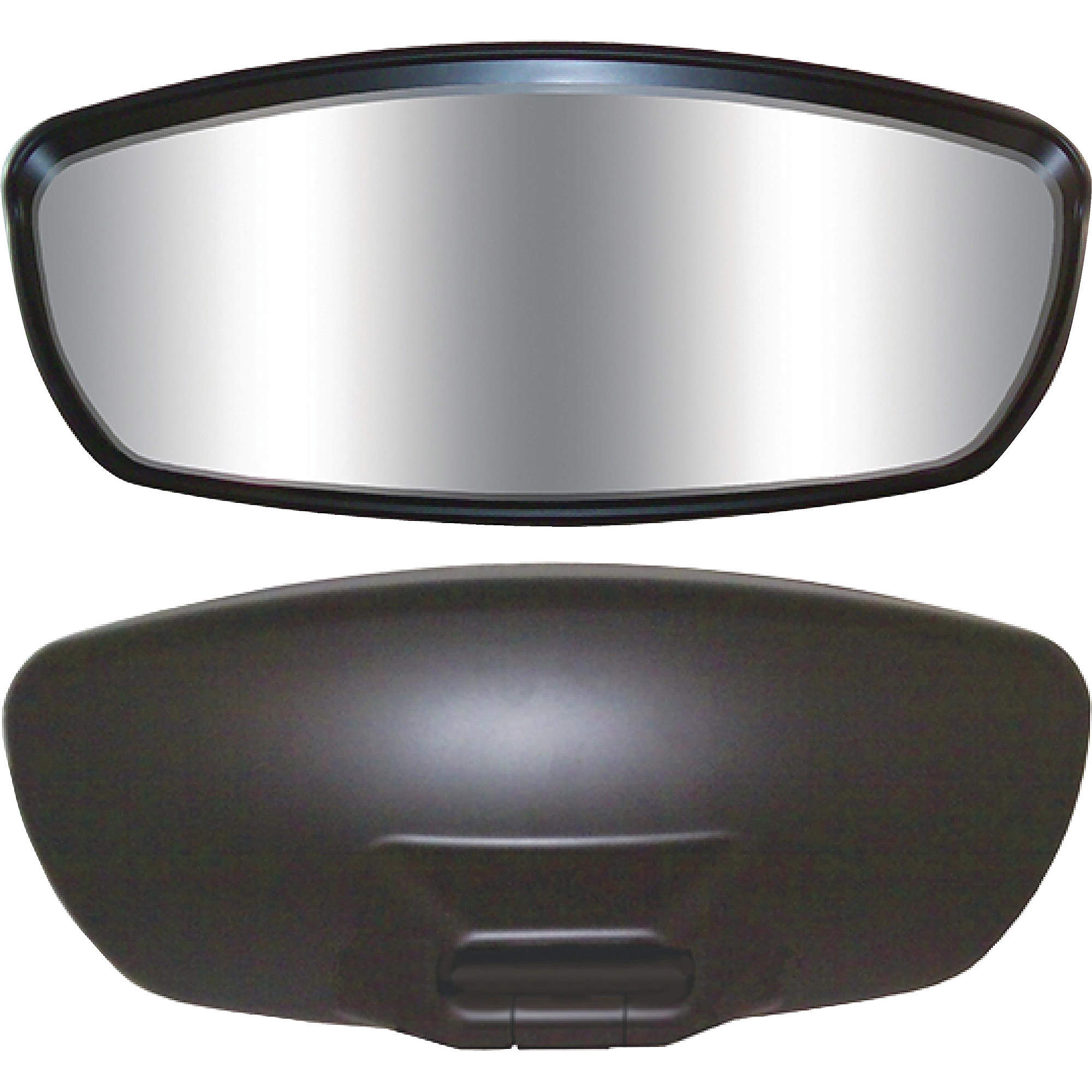"""CIPA Wave Mirror, 7"""" x 17"""", Black Convex Head Only Without Wave Frame"""