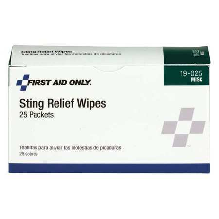 PHYSICIANSCARE Sting Relief Wipes,PK25 19-025