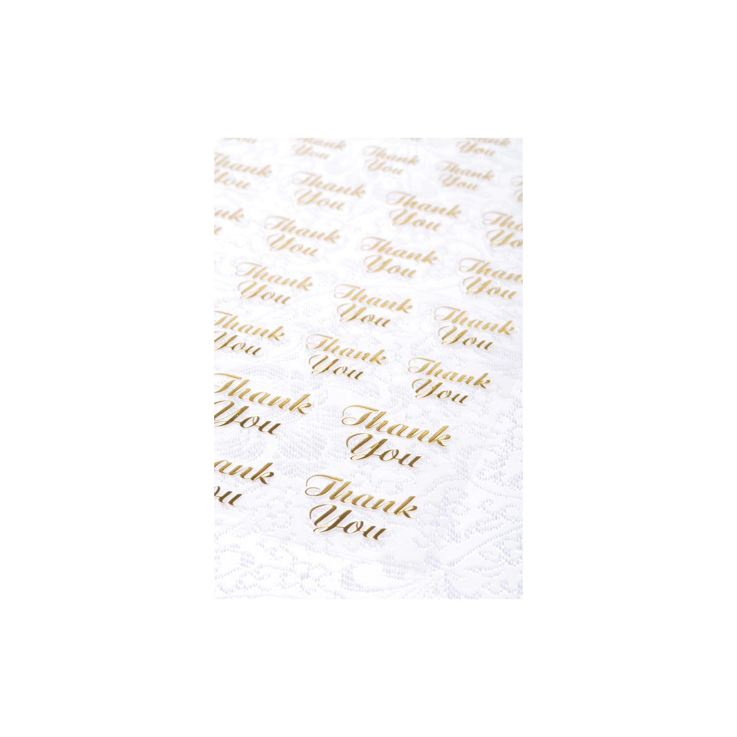 Gold Thank You Clear Stickers 47Pc